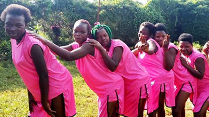 Group of young woman involved in PEPFAR