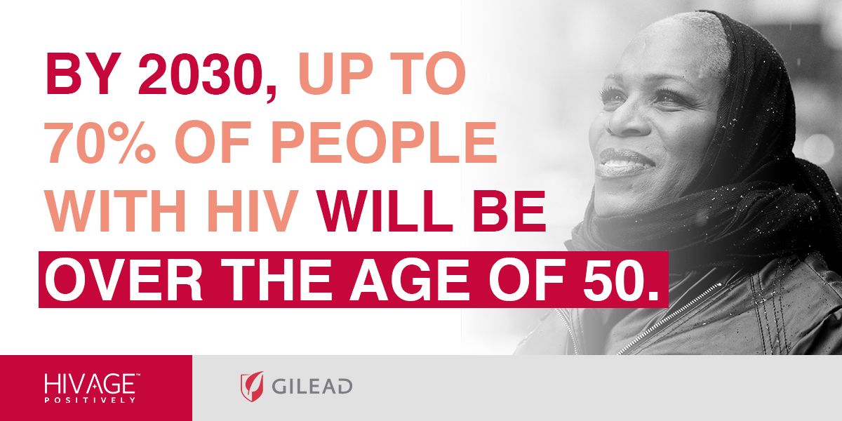 By 2030, up to 70% of people with HIV will be over the age of 50.
