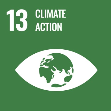 UN SDG goal of Climate Action graphic